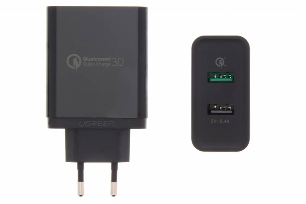 Image of 2-Poorts Wall Charger met QC 3.0 Technology 5,4 amp