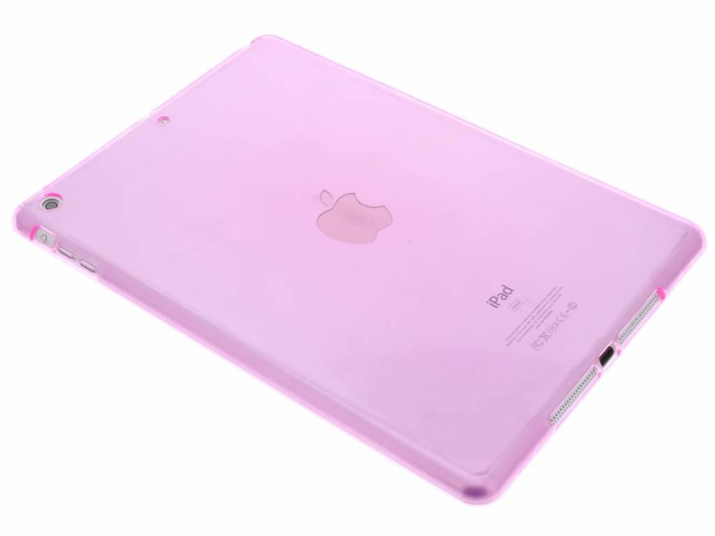 Roze transparante gel case voor de iPad Air
