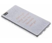 Quote design TPU hoesje Huawei P8 Lite