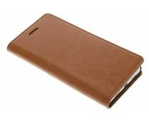 Cognac zakelijke booktype hoes Huawei P8 Lite