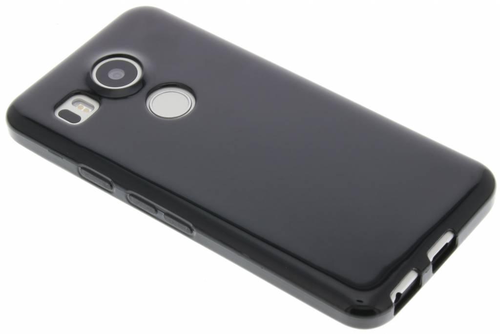 Zwarte gel case voor de LG Nexus 5X
