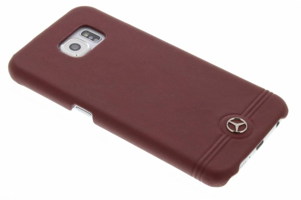 Mercedes-Benz Leather Hard Case Pure Line voor de Samsung Galaxy S6 - Rood