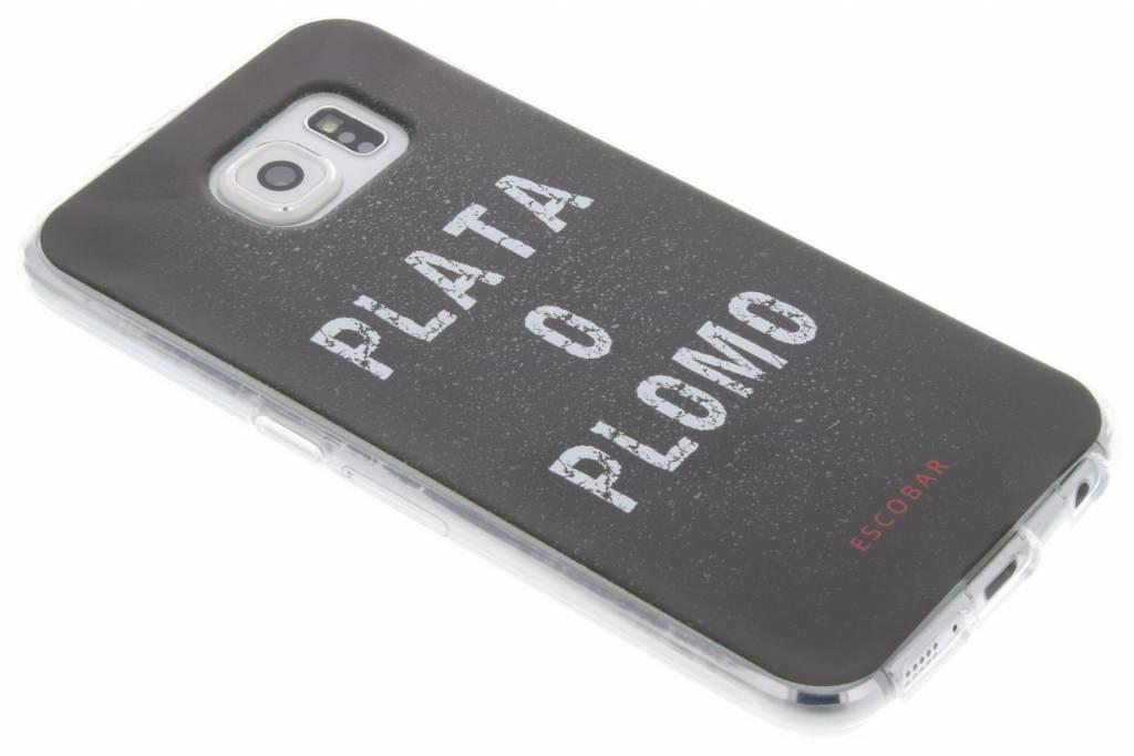 Escobar 'Plata O Plomo' TV Quotes TPU hoesje voor de Samsung Galaxy S6
