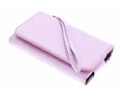 Roze universeel glitter portemonnee hoesje maat S
