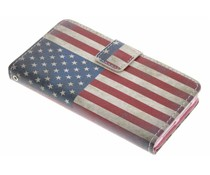 Amerikaanse Vlag design TPU booktype Sony Xperia Z1 Compact