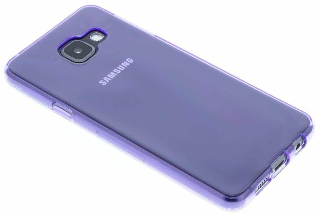 Paarse transparante gel case voor de Samsung Galaxy A3 (2016)