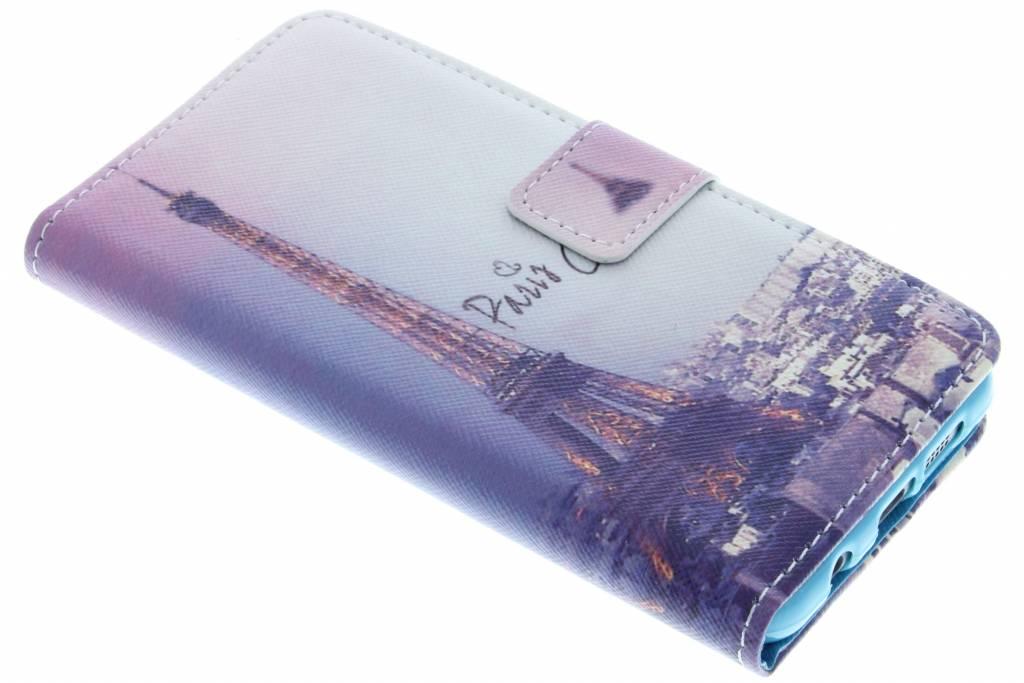 Eiffeltoren design TPU booktype hoes voor de Samsung Galaxy A3 (2016)