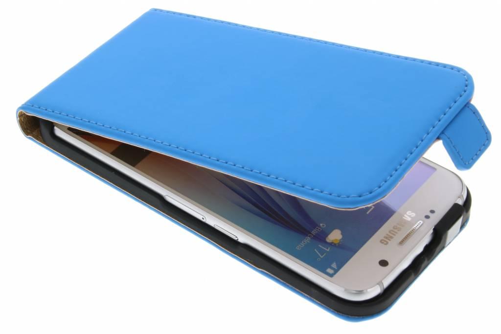 Selencia Luxe Flipcase flipcase voor de Samsung Galaxy S6 - Blauw