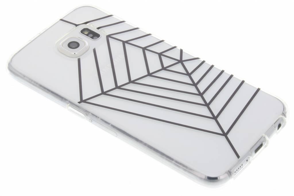 Halloween design spinnenweb TPU hoesje voor de Samsung Galaxy S6