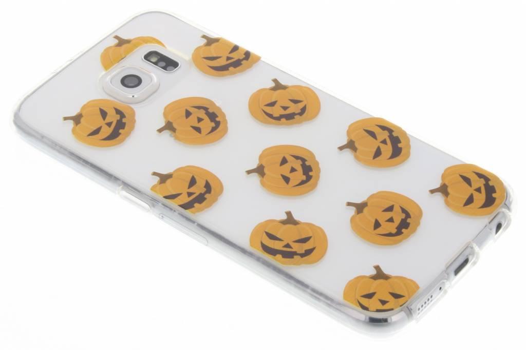 Halloween design pompoentjes TPU hoesje voor de Samsung Galaxy S6