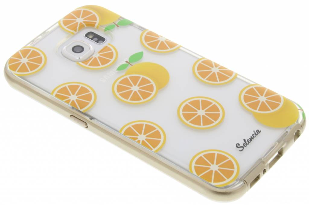 Selencia Foodies Orange TPU hoesje voor de Samsung Galaxy S6