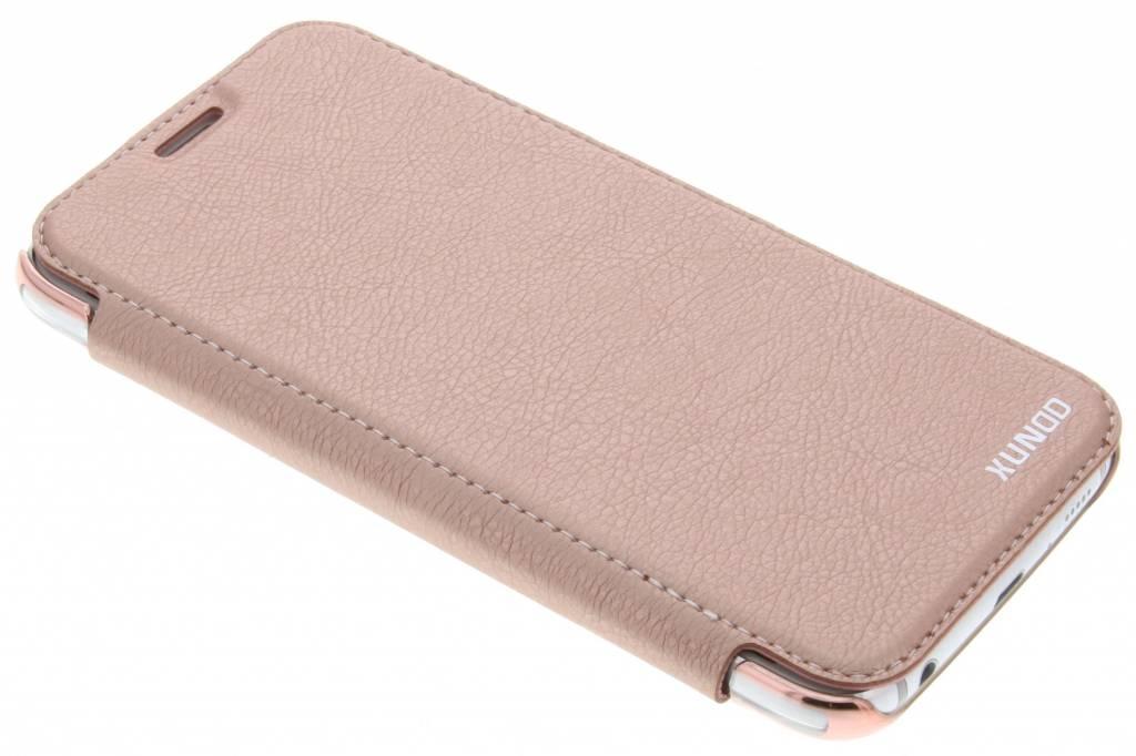 Roze crystal slim book case voor de Samsung Galaxy S6