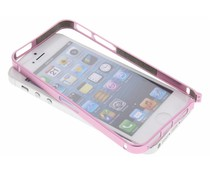 Roze metalen bumper iPhone 5 / 5s / SE