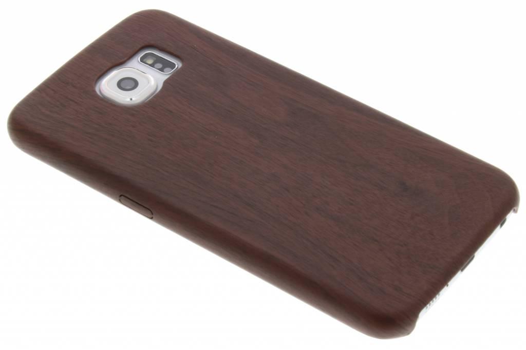 Kastanjebruine houten TPU case voor de Samsung Galaxy S6