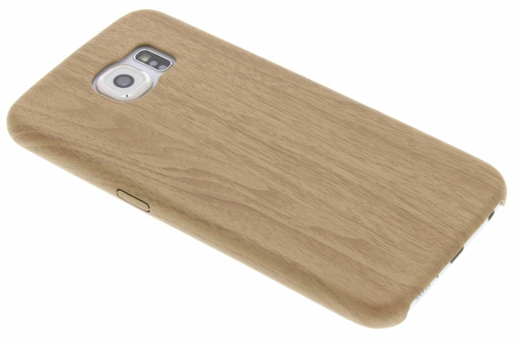 Beige houten TPU case voor de Samsung Galaxy S6