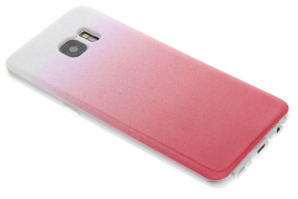 Roze glitter TPU softcase voor de Samsung Galaxy S7 Edge