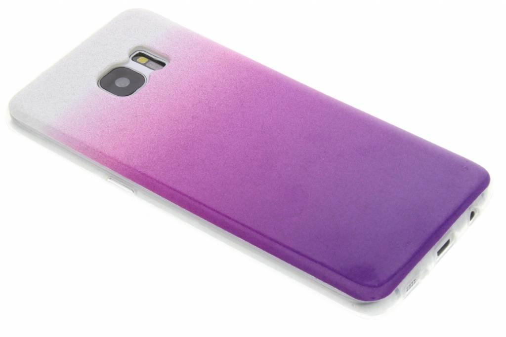 Paarse glitter TPU softcase voor de Samsung Galaxy S7 Edge