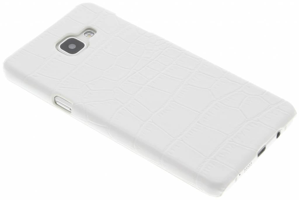 Wit krokodil design hardcase hoesje voor de Samsung Galaxy A5 (2016)