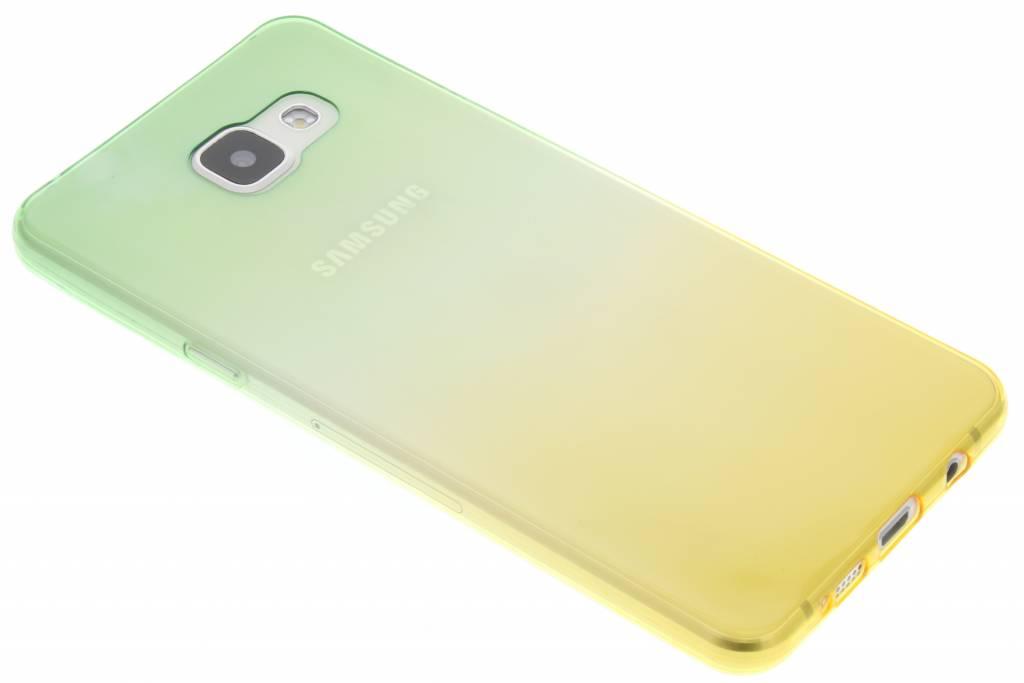 Groen/geel tweekleurig TPU siliconen hoesje voor de Samsung Galaxy A5 (2016)