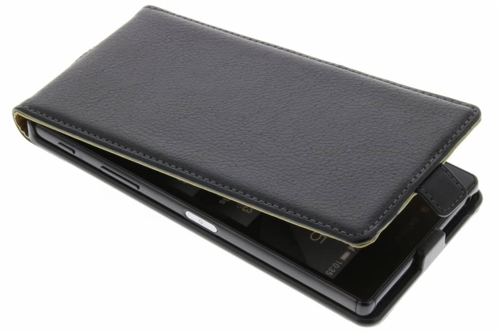 Flip Cas De Luxe Pour Sony Xperia Z5 Premium - Noir bWWYvX05