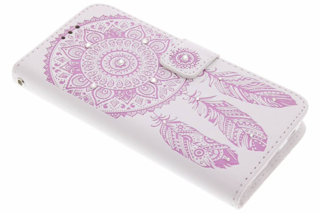 Roze bohemian booktype hoes Samsung Galaxy S6