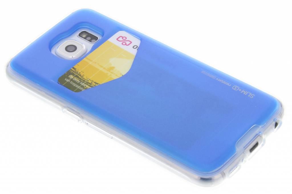 Card Pocket Case voor de Samsung Galaxy S6 - Blauw