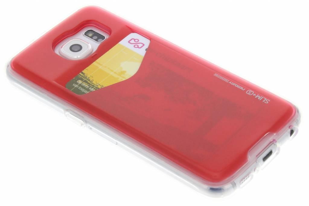 Card Pocket Case voor de Samsung Galaxy S6 - Rood