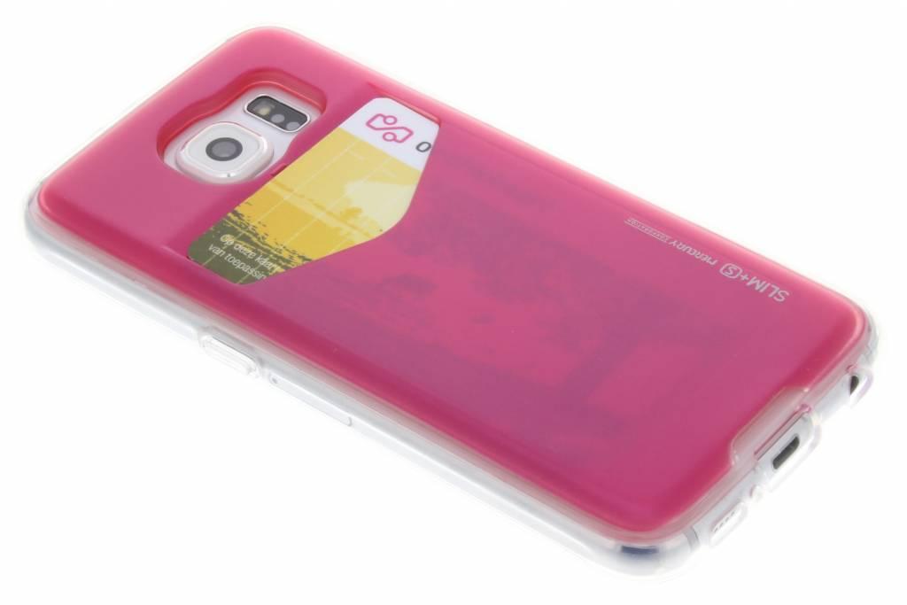 Card Pocket Case voor de Samsung Galaxy S6 - Fuchsia