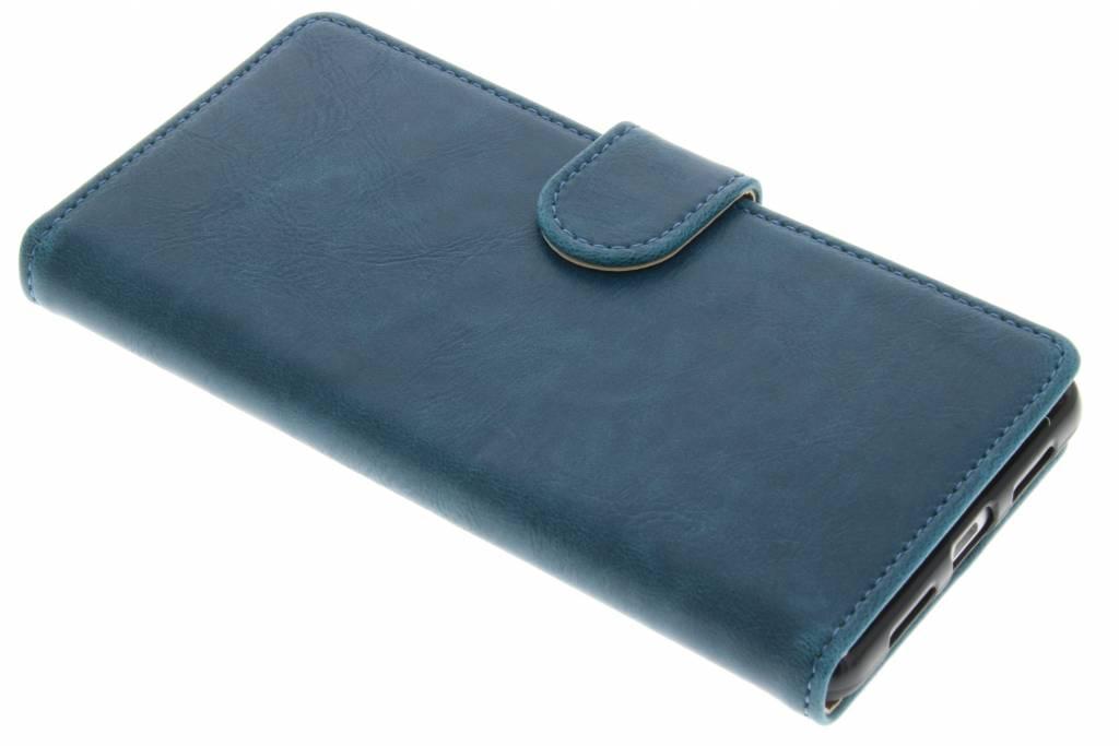 Blauwe zakelijke TPU booktype hoes voor de Huawei P9 Lite