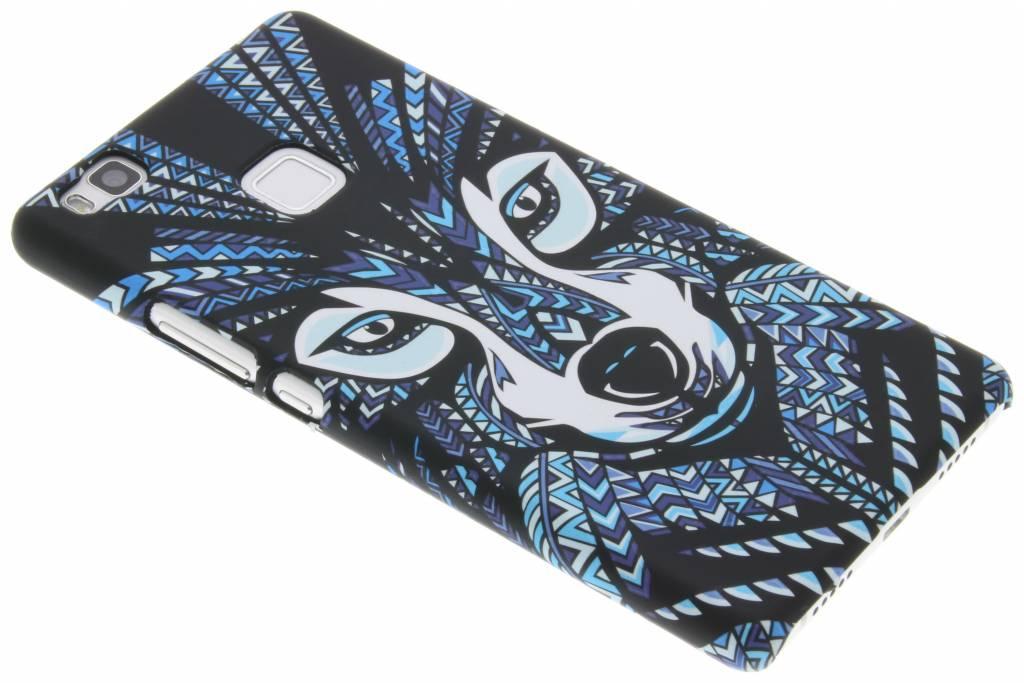 Wolf aztec animal design hardcase voor de Huawei P9 Lite