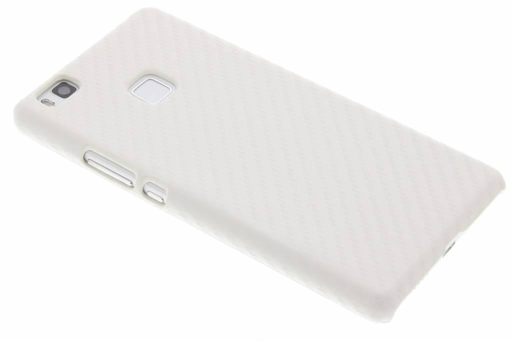 Wit carbon look hardcase hoesje voor de Huawei P9 Lite