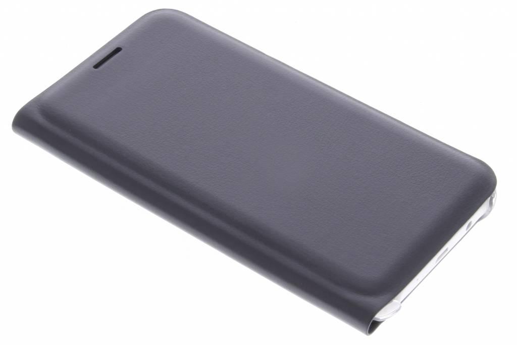 Zwarte luxe slim booktype hoes voor de Samsung Galaxy J5
