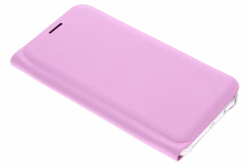 Roze luxe slim booktype hoes voor de Samsung Galaxy J5