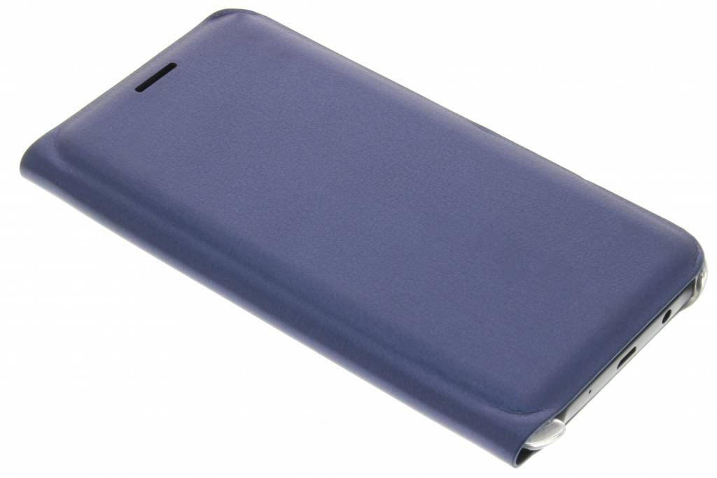 Metallic donkerblauwe luxe slim booktype hoes voor de Samsung Galaxy J5