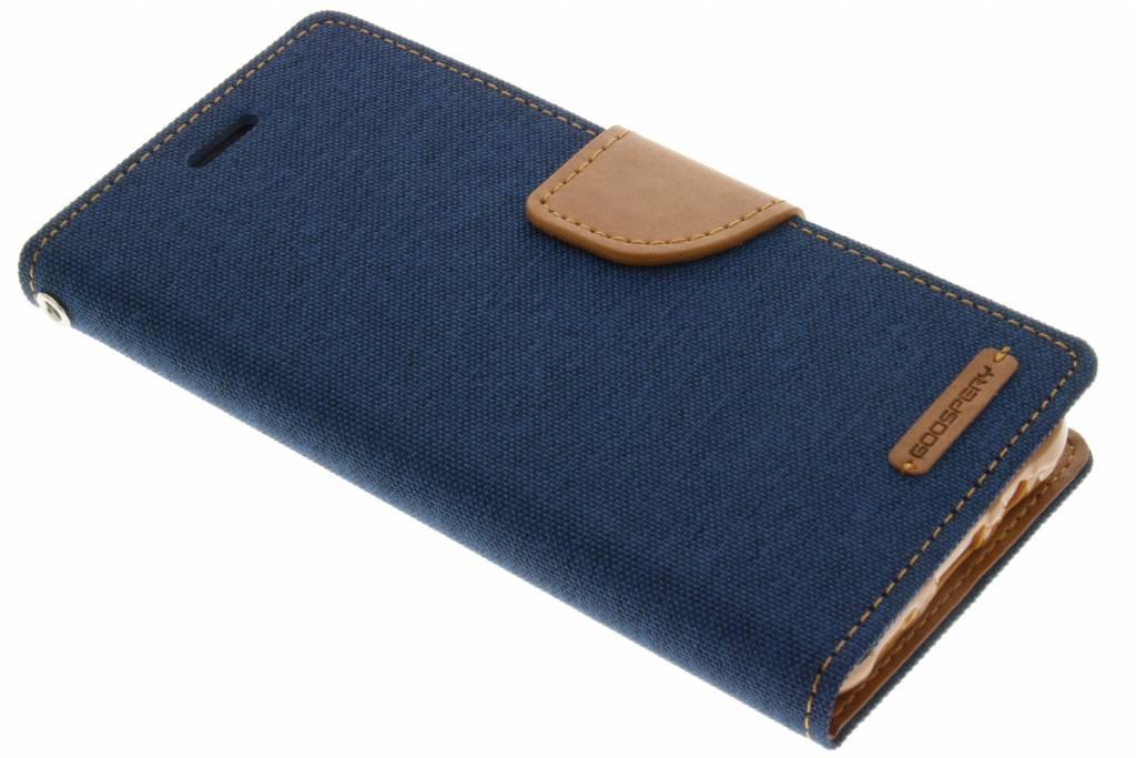 Canvas Diary Case voor de Samsung Galaxy J5 - Blauw