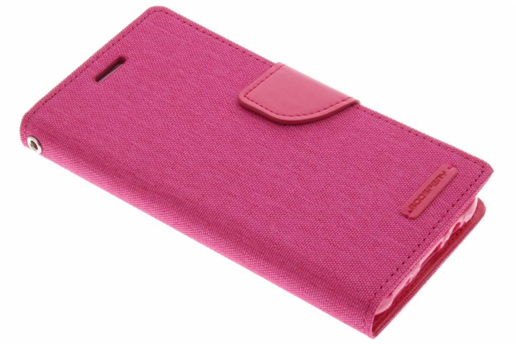 Canvas Diary Case voor de Samsung Galaxy J5 - Fuchsia