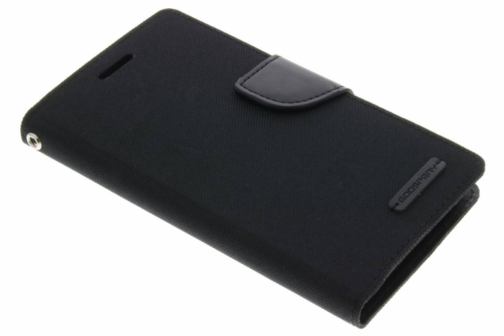Canvas Diary Case voor de Samsung Galaxy J5 - Zwart
