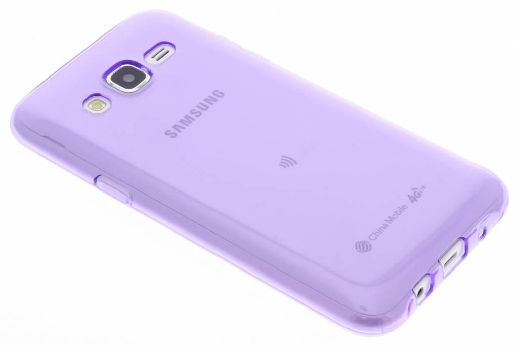 Paarse transparante gel case voor de Samsung Galaxy J5