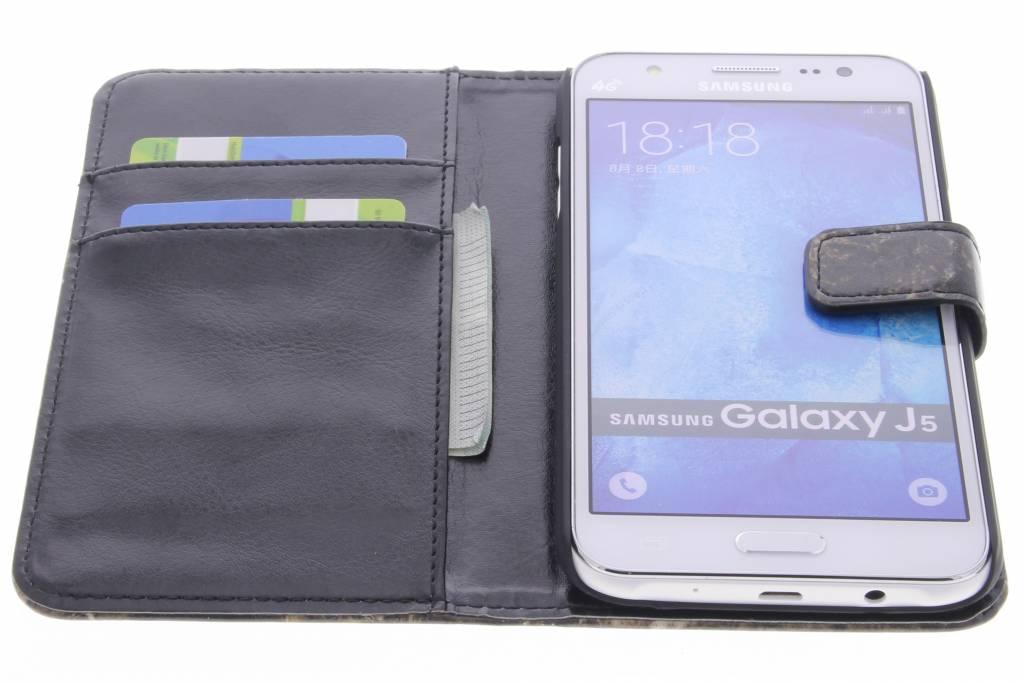 Livre Boîtier De Type Marbre Brun Pour Samsung Galaxy J5 NeWRtGW