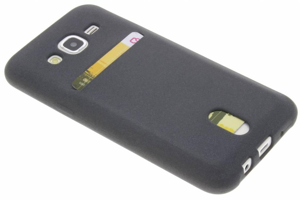 Grijze TPU siliconen card case voor de Samsung Galaxy J5