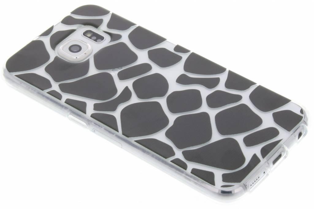 Zwart dierenprint design Giraffe TPU hoesje voor de Samsung Galaxy S6
