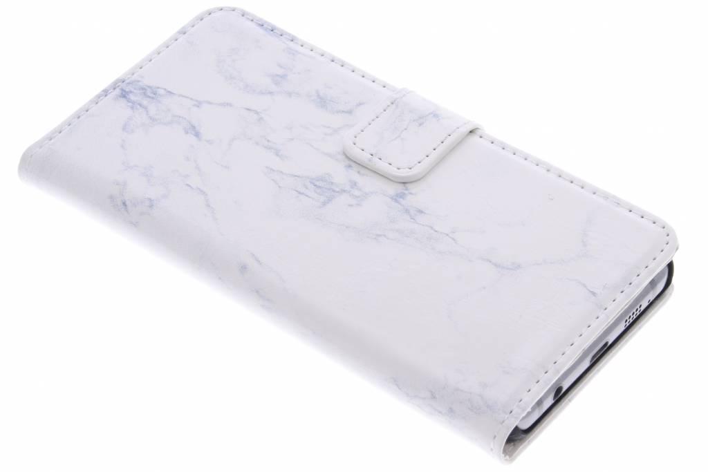Witte marmer booktype hoes voor de Samsung Galaxy A3 (2016)