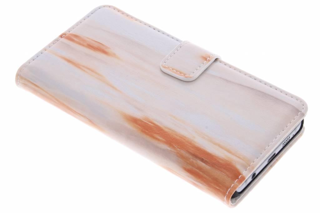 Oranje marmer booktype hoes voor de Samsung Galaxy A3 (2016)