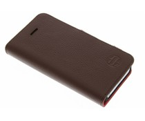 I-Ch'i Leather Book Type iPhone 5 / 5s / SE - Bruin