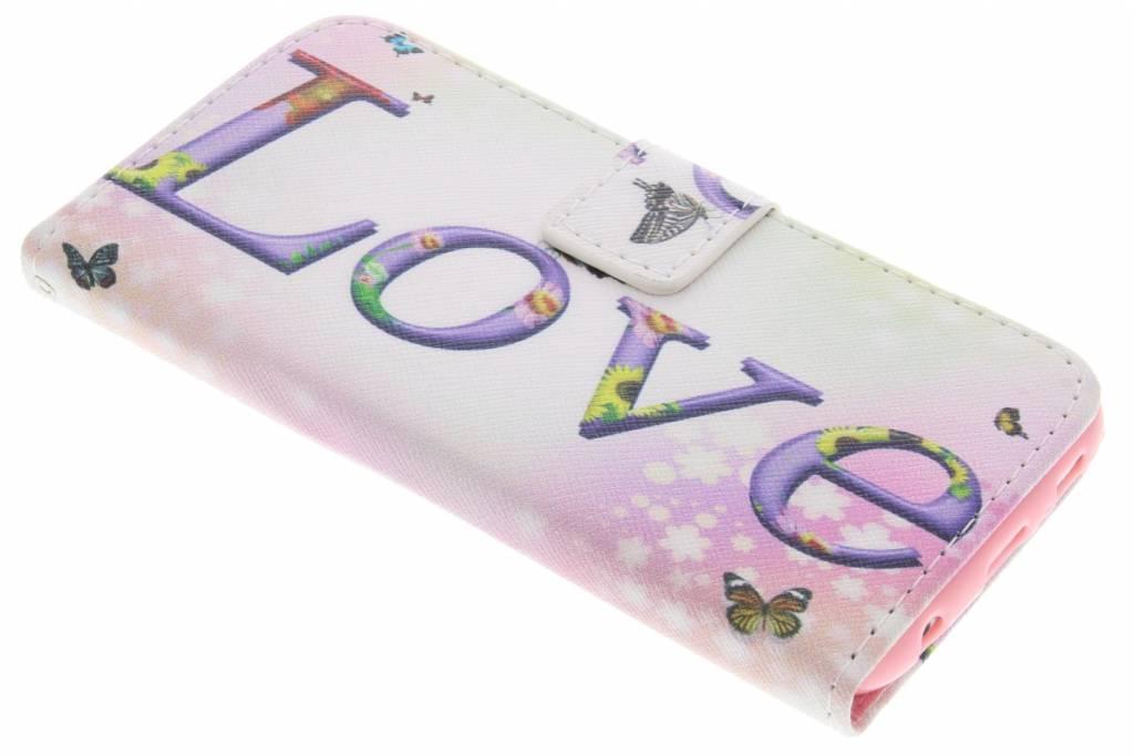 Love design TPU booktype hoes voor de Samsung Galaxy S6