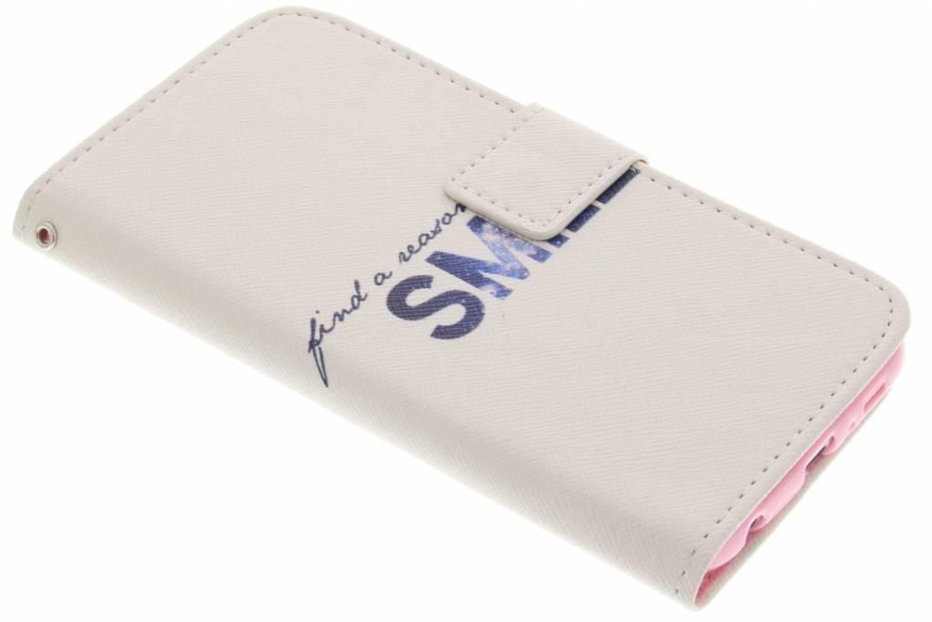Smile design TPU booktype hoes voor de Samsung Galaxy S6