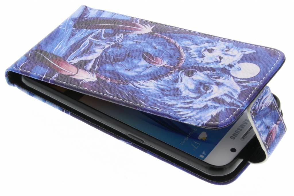 Wolven design TPU flipcase voor de Samsung Galaxy S6