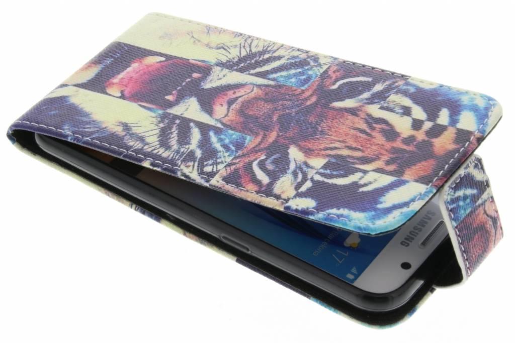 Tijger design TPU flipcase voor de Samsung Galaxy S6