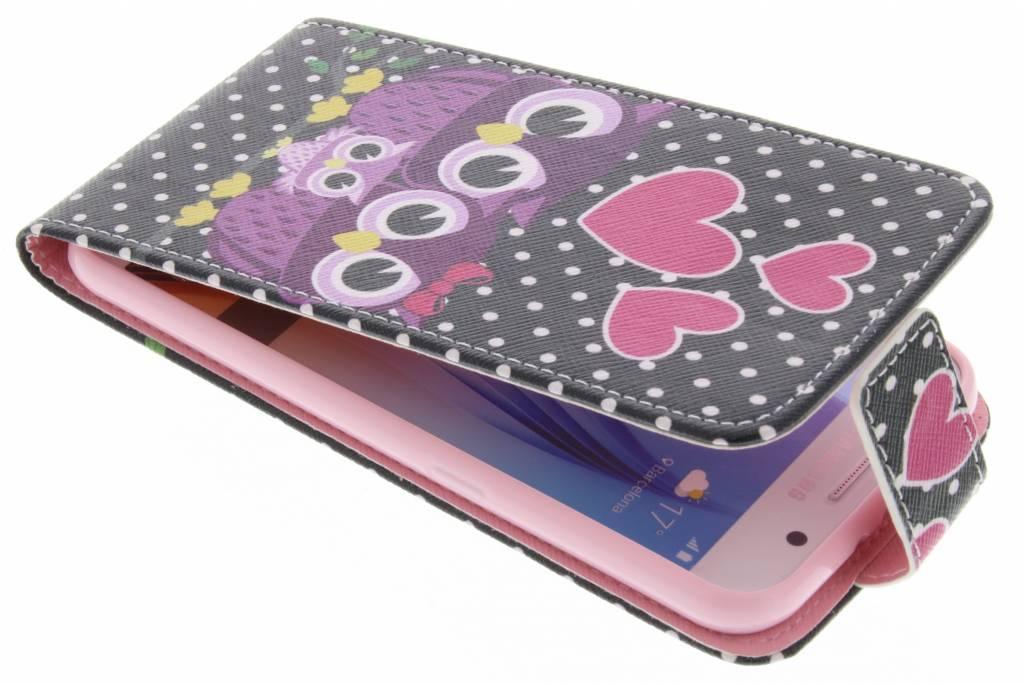 Uiltjes design TPU flipcase voor de Samsung Galaxy S6