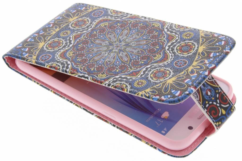 Mandala design TPU flipcase voor de Samsung Galaxy S6